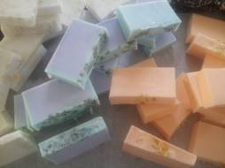 Assorted handcrafted soaps